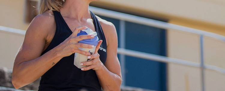 Girl With Protein Shaker