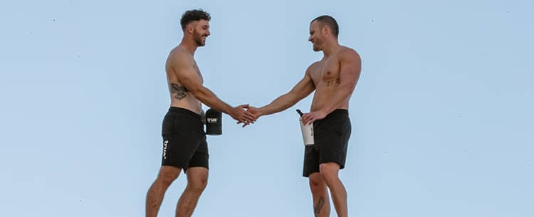 True Athletes Shaking Hands