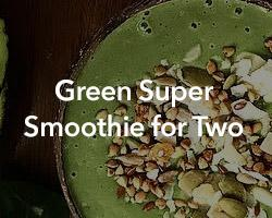Green Super Smoothie for Two