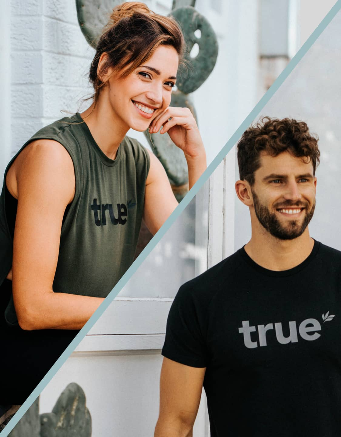 Guy and Girl in True Apparel